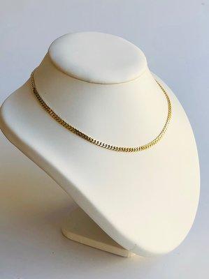 14 karaat gouden Gourmet ketting - 42 cm