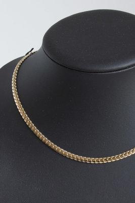 14K gouden gourmet schakel Collier- 43 cm
