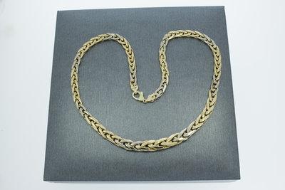 Gouden Vossenstaart ketting - 47,5 cm