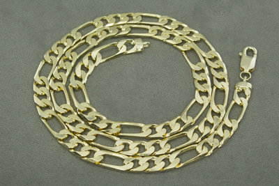Gouden Figaro ketting- 61 cm