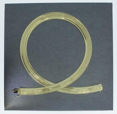 14 karaat geel gouden Band Collier - 44 cm
