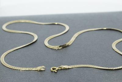 Gewalste en geslepen gouden Gourmet Collier- 46 cm VERKOCHT