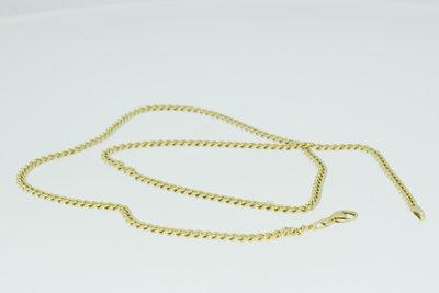 14k gouden gewalste en geslepen Gourmet schakelketting- 56 cm VERKOCHT