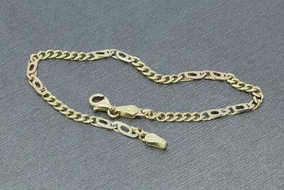 Gouden (Gourmet/Valkoog) armband- 19 cm