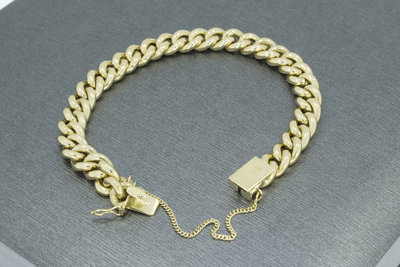 Gouden Gourmet armband- 19 cm