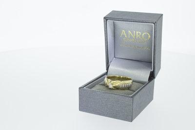 14k bicolor gouden ring met zirkonia
