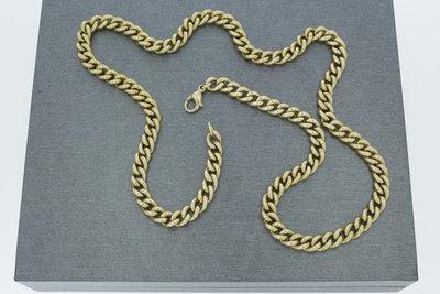 14k gouden Gourmet ketting- 57 cm