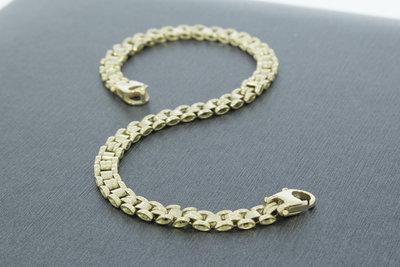 Gouden schakelarmband- 21,5 cm