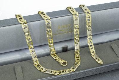18 karaat bicolor gouden Rolex ketting - 59,5 cm