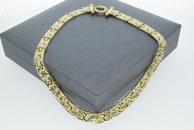 Bicolor gouden collier - 43 cm