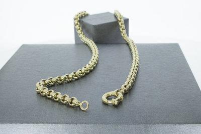 14k gouden jasseron slotcollier - 51,5 cm