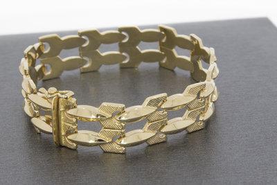 18k gouden armband met baklsot- 19cm