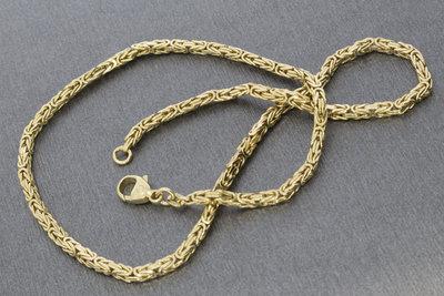 14 karaat geelgouden koningsketting - 43 cm