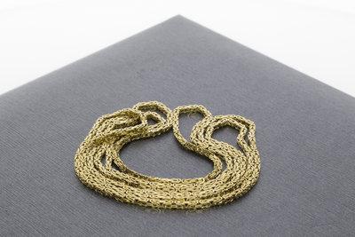 14 karaat geel gouden koningsketting - 79 cm