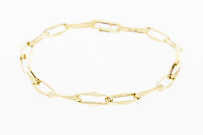 Gouden Closed Forever Armband- 21 cm