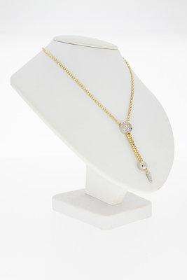 14k gouden venetiaans collier met hanger - 46 cm GERESERVEERD