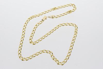 Gouden gourmet ketting-47,5 cm