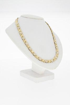 14 karaat gouden Collier (dubbel eindstuk)-41,5 cm