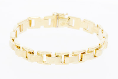 14 karaat geel gouden armband - 19 cm