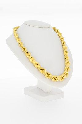 14 karaat geel gouden Koordketting - 45 cm