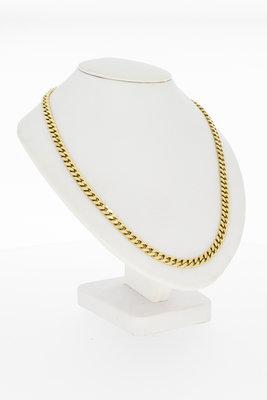 14 karaat geel gouden Gourmet schakel Collier - 41 cm