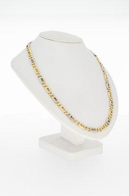 14 karaat bicolor gouden Rolex schakelketting - 57 cm