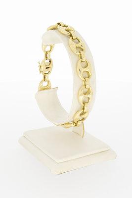 14 karaat geelgouden Anker schakelarmband- 21 cm