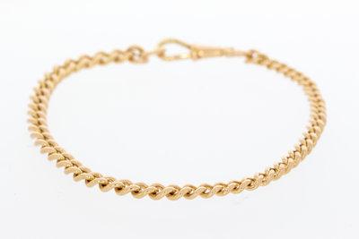 18 Karaat Rose gouden Gourmet armband - 23,5 cm