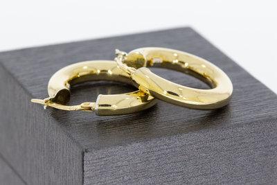 14 Karaat geel gouden (gladde) oorbellen / Creolen