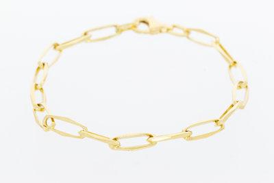 14 Karaat geel gouden Closed Forever Armband - 20 cm