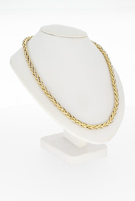 14 karaat gouden Vossenstaart collier- 45 cm