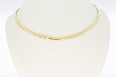 14 karaat bicolor gouden Spang Collier - 46 cm VERKOCHT