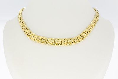 14 Karaat geel gouden gewalste koningsketting - 45 cm