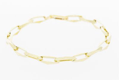 "14 Karaat Gouden ""Closed Forever"" Armband - 21 cm"