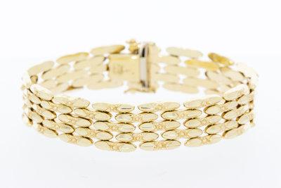 14 karaat geel gouden schakelarmband - 19 cm