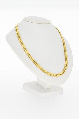 18 Karaat Gouden afgevlakte Gourmet ketting - 60 cm