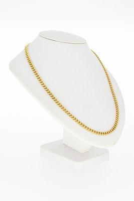 14 Karaat Gewalste geel gouden Gourmet Collier - 51 cm