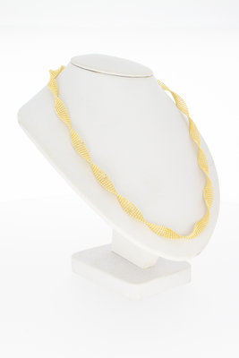 14 karaat geel gouden draai- Collier - 44 cm