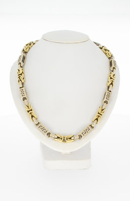 14 Karaat bicolor gouden Magnum koningsketting - 61 cm