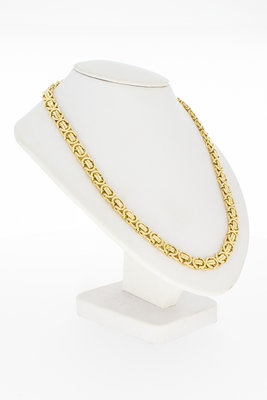 14 Karaat geel gouden platte koningsketting - 60 cm