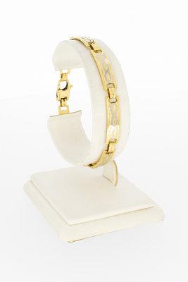 14 karaat geelgouden schakel armband - 18,5 cm