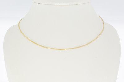 14 karaat geelgouden Omega schakel Collier - 42,5 cm