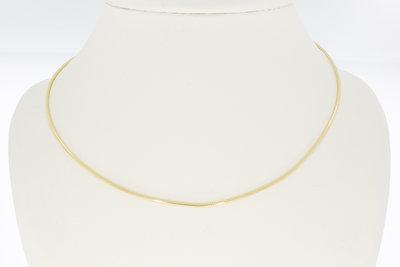 14 karaat geelgouden Omega schakel Collier - 44,5 cm