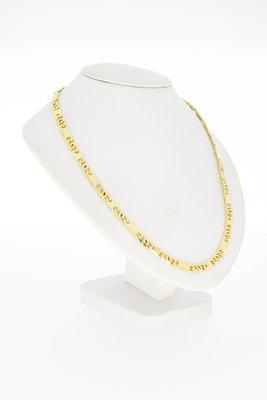 18 karaat geel gouden Valkoog ketting - 46 cm