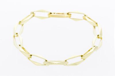 14 karaat geelgouden Closed Forerver armband - 19 cm