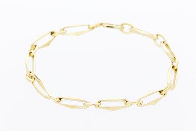 14 karaat geelgouden Closes Forever armband - 18 cm
