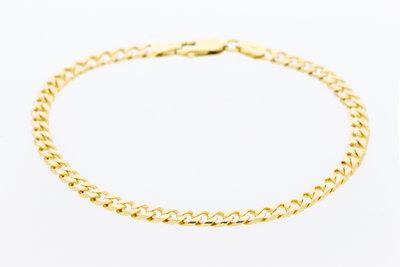 14 karaat geelgouden Gourmet armband - 19,5 cm