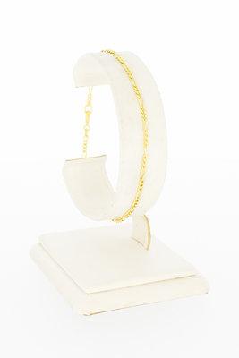 14 karaat geel gouden Figaro schakel armband - 19 cm