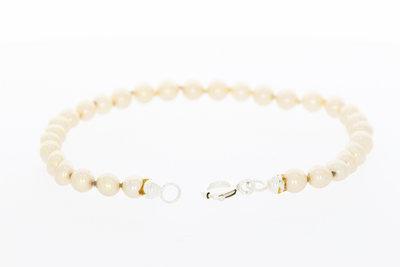 """""""Majorica"""" Parel armband met een zilveren sluiting - 21 cm"""