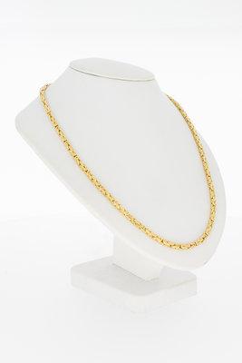 14 karaat geel gouden Koningsschakel ketting - 70 cm